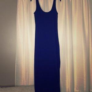 Navy Scoop Neck Dress